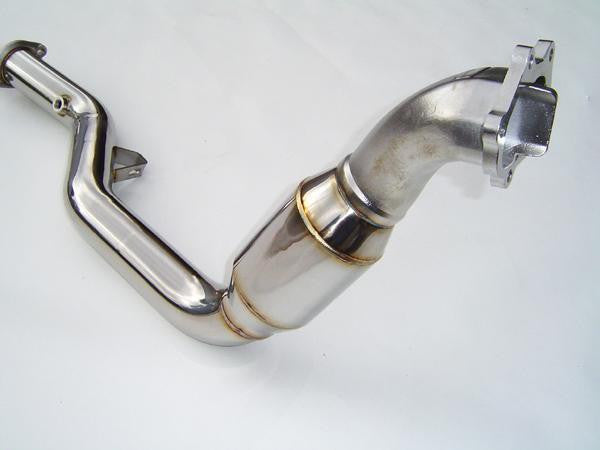 Invidia - Q300 Turbo Back Exhaust w/Polished Tips (WRX 09-10 Sedan) - Boosted Performance Parts