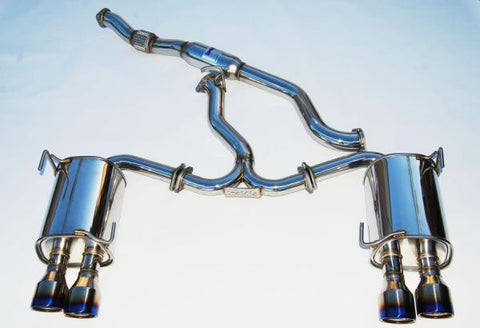 Invidia - Q300 Turbo Back Exhaust w/Titanium Tips (WRX 15-17 CVT Auto) - Boosted Performance Parts
