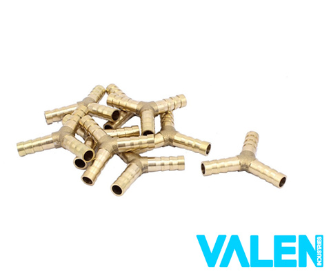 Brass Barb Y Piece Connector