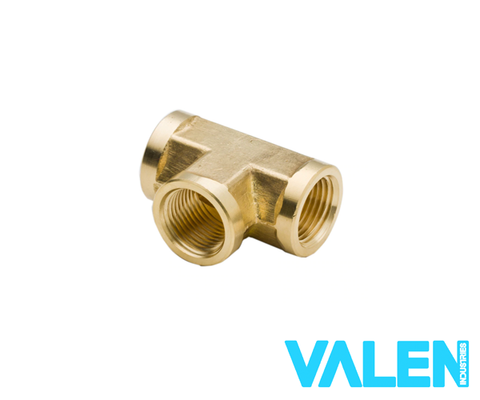 1/8 NPT Brass Female Tee (Universal)