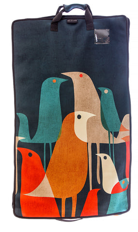 Art of Travel Neoprene Garment Bag - Flock Of Birds