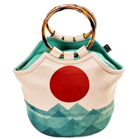 Neoprene Lunch Bag Purse by Art of lunch - The Ocean, the Sea, the Wave