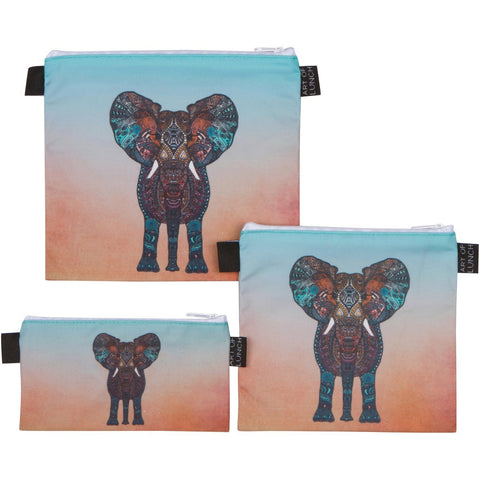 Reusable Sandwich & Snack Baggies by ART OF LUNCH - Elephant