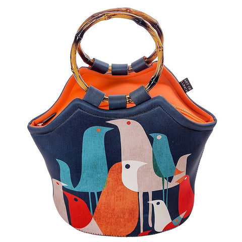 Neoprene Lunch Bag Purse by Art of lunch-Flock of Birds