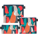 Reusable Sandwich & Snack Baggies by ART OF LUNCH - Flock of Birds