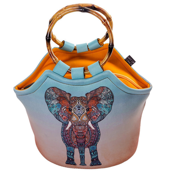 Neoprene Lunch Bag Purse by ART OF LUNCH  - Elephant