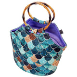 Neoprene Lunch Bag Purse by Art of lunch - Really Mermaid