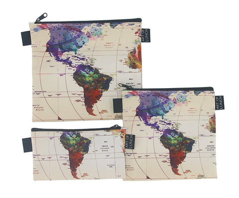 Art of Lunch Baggie - World Map