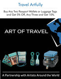 RFID Neck Wallet - Art of Travel - Black Stone