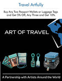 Neoprene Designer Luggage Tags by ART OF TRAVEL -  Emerald & Copper