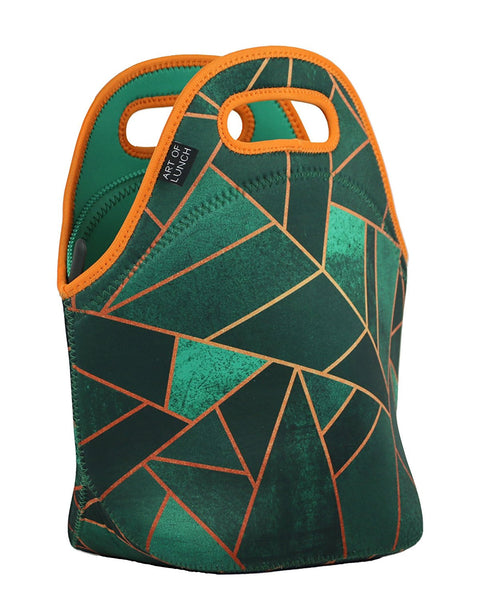 Neoprene Lunch Bag by ART OF LUNCH - Emerald & Copper