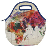 Neoprene Lunch Bag by ART OF LUNCH-World Map