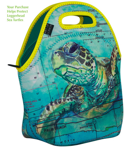 Art of Lunch Neoprene Lunch Bag, Large, Loggerhead Sea Turtle