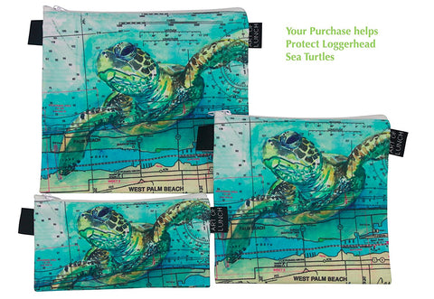 Reusable Sandwich Baggies Art of lunch - Sea Turtle