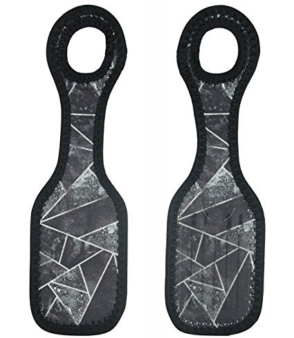 Neoprene Designer Luggage Tags by ART OF TRAVEL - Black Stone