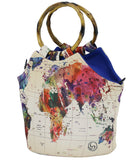 Neoprene Lunch Purse by Art of Lunch - World Map