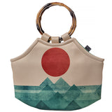 Neoprene Lunch Tote Purse - The Ocean, the Sea, the Wave