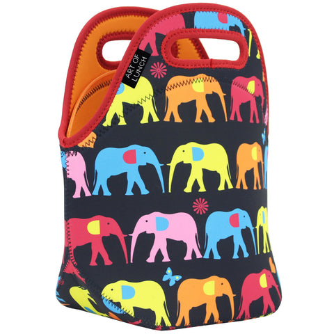 Neoprene Lunch Bag by ART OF LUNCH-Elephant                              UPC: 746106664967