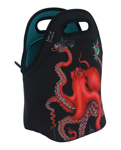 Neoprene Lunch Bag by ART OF LUNCH - Octopus Intertwined