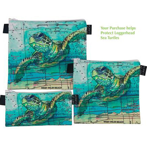Reusable Sandwich Baggies ART OF LUNCH - Artist - Sea Turtle