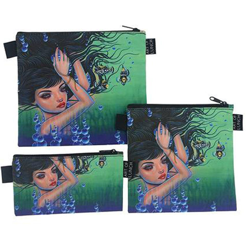 Reusable Sandwich & Snack Baggies by ART OF LUNCH - Umijoo Underwater