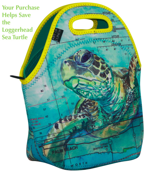 Loggerhead Sea Turtle Neoprene Lunch Tote (Limited Edition) - Carly Mejeur