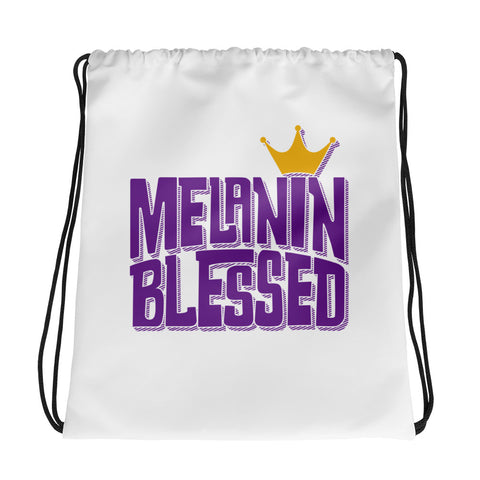 Melanin Blessed Drawstring bag