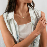 Hashtag Horizontal Bar Necklace  • NBH30x4-01