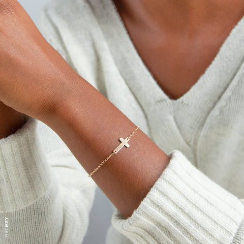 Dainty Cross Bracelet • BCRSh
