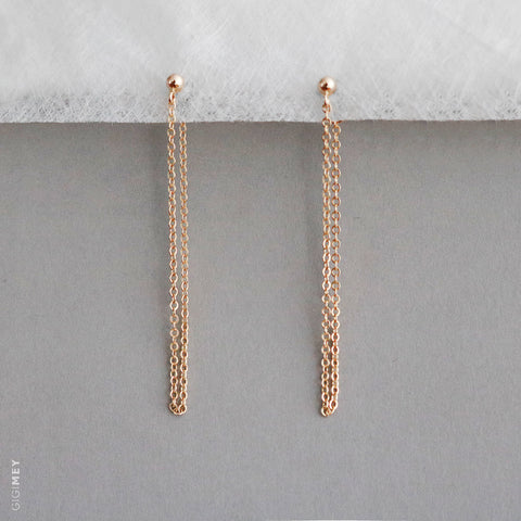 Chain and Ball Earring • EBCHN4