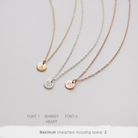 Engraved Disc Necklace 6 Millimeters • NDV60