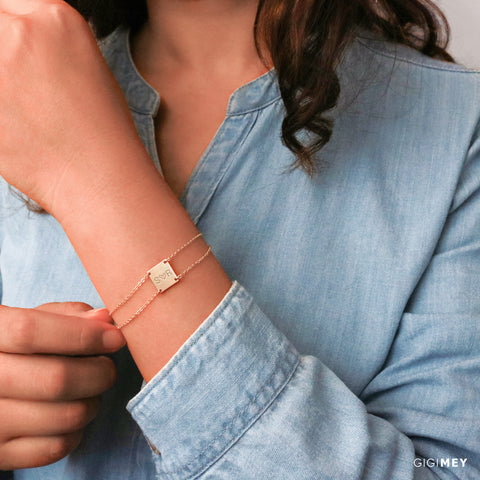 Square Bar Bracelet • BB112