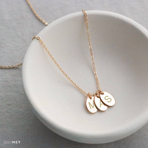 Multi Oval Tag Necklace  • NOVLv10m