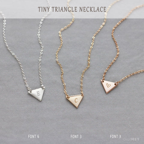 Minimalist Small Engraved Triangle • NTRGh12