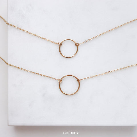 Layered Open Circle Karma Necklace • LNS013