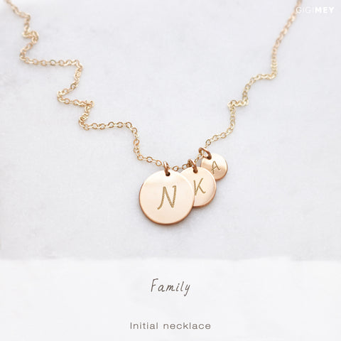 Family Initial Necklace • NDV13D9D60