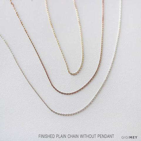 Finished Plain Chain Without Pendant • NC0