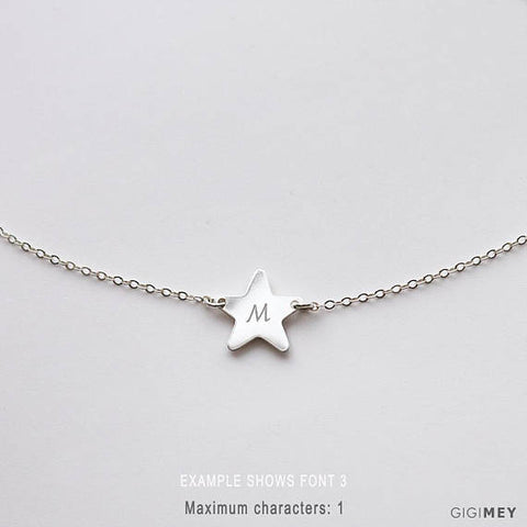 Personalized star necklace • NSH121