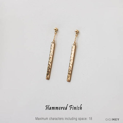 Engraved Bar Earring • EBB30x32