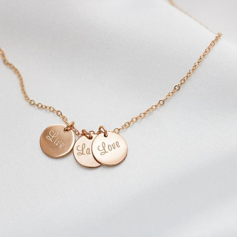 Live, Laugh and Love Necklace • NDV9M0