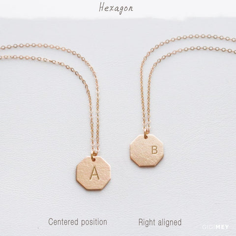 Personalized Hexagon Necklace • NOTGv11