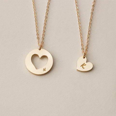 Two Heart cutout Necklaces • N018