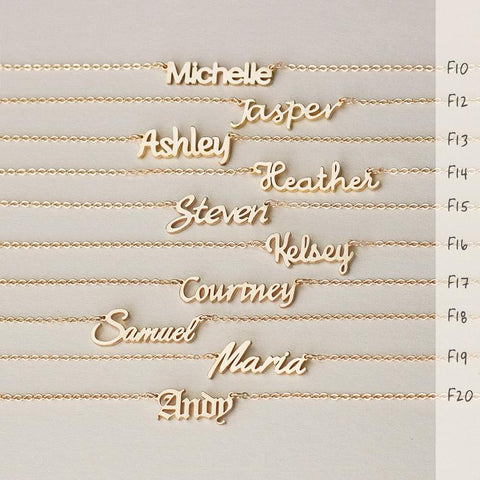 Dainty Name Necklace, Custom With Name, Letter necklace, Word necklace • N017