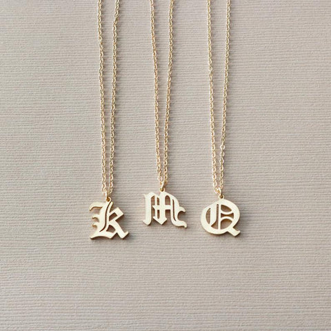 Gothic letter Necklace • N024
