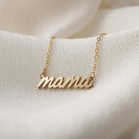 Cursive Mama Necklace • N027
