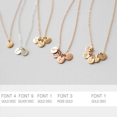 Engraved Multi Disc Necklace 6 Millimeters • NDV6M0