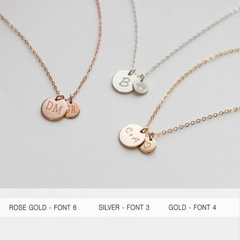 Multi Disc Necklace 6 and 9 Millimeter • NDv9D6