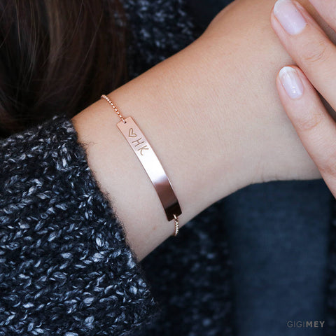 Engraved Bar Bracelet • BB45x5