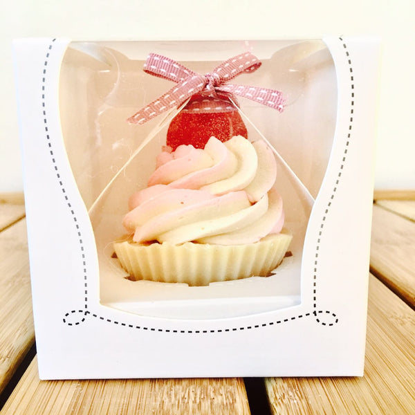 TWO of CUPs Handmade Cupcake Goat Milk Soap Sparkling