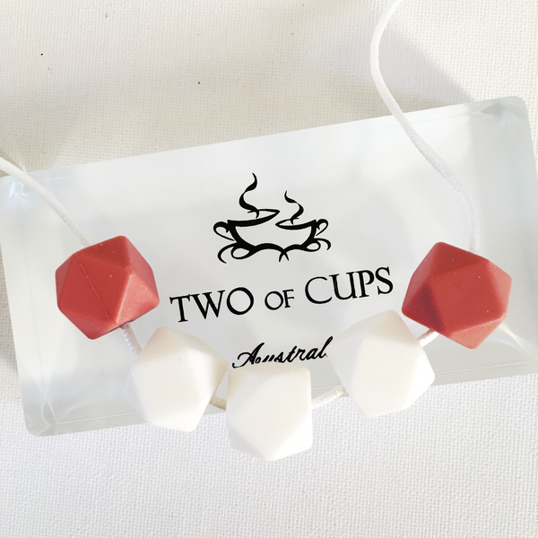 TWO of CUPs Angelic -  Necklace / Necklace + Cupcake giftset
